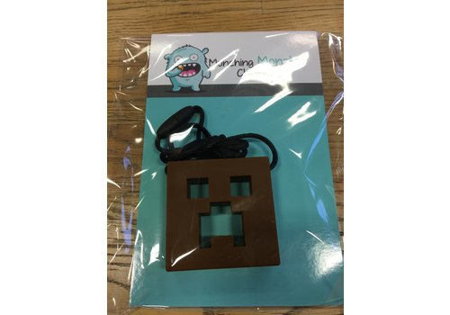Munching Monster MINECRAFT CHEWLERY PENDANT- Brown