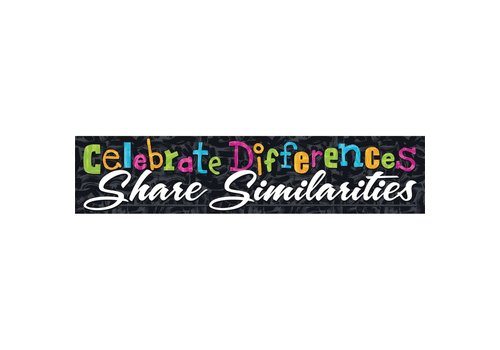 Trend Enterprises Celebrate Differences... Quotable Expressions® Banner – 3 Feet *