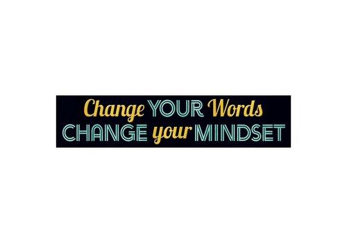 Trend Enterprises Change Your Words... Quotable Expressions® Banner – 3 Feet