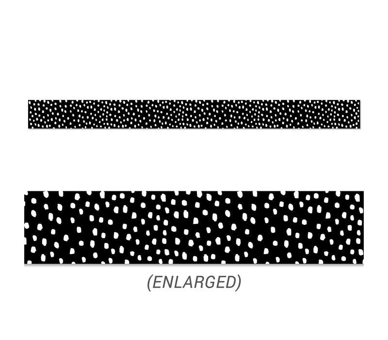 Messy Dots on Black Straight Border *
