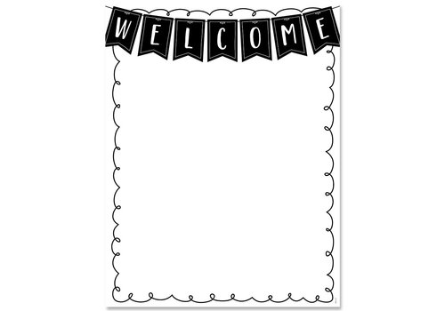 Creative Teaching Press Core Decor Welcome Chart*