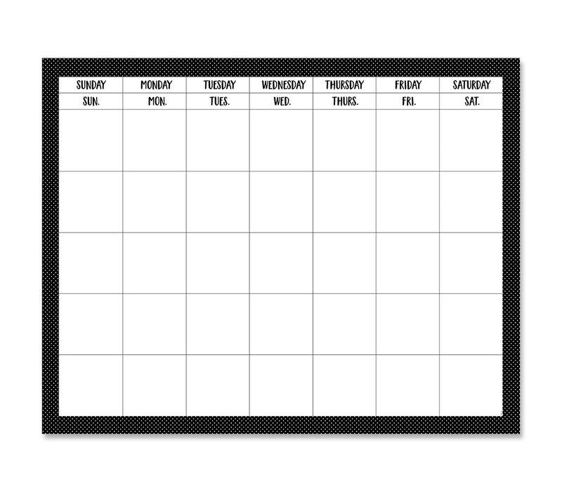 """Swiss Dots Calendar Chart 28"""" x22"""" *"""