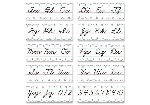 Creative Teaching Press Traditional Cursive Alphabet Line Bulletin Board *