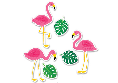 Creative Teaching Press Palm Paradise Flamingo Fun 6 Inch Designer Cut-Outs
