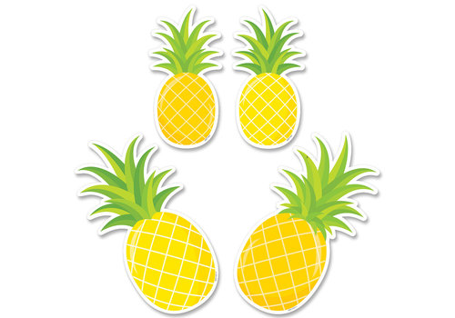 Creative Teaching Press Palm Paradise Pineapple Party 6 Inch Designer Cut-Outs *