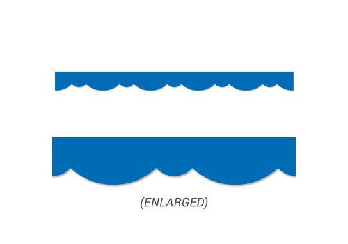 Creative Teaching Press Royal Blue Stylish Scallops Border