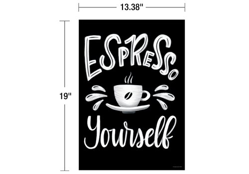 Carson Dellosa Industrial Cafe - Espresso Yourself Poster*