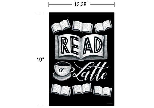 Carson Dellosa Industrial Cafe - Read a Latte Poster