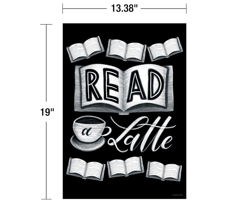 Industrial Cafe - Read a Latte Poster*