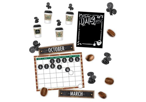 Carson Dellosa Industrial Cafe Calendar Bulletin Board Set *