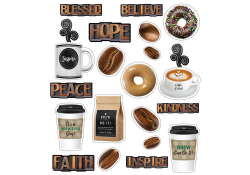 Carson Dellosa Industrial Cafe Morning Motivators Mini Bulletin Board Set