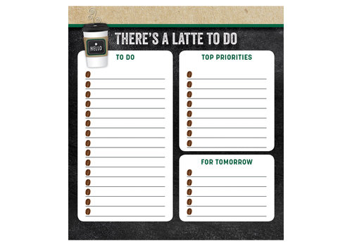 Carson Dellosa There's a Latte to Do Notepad