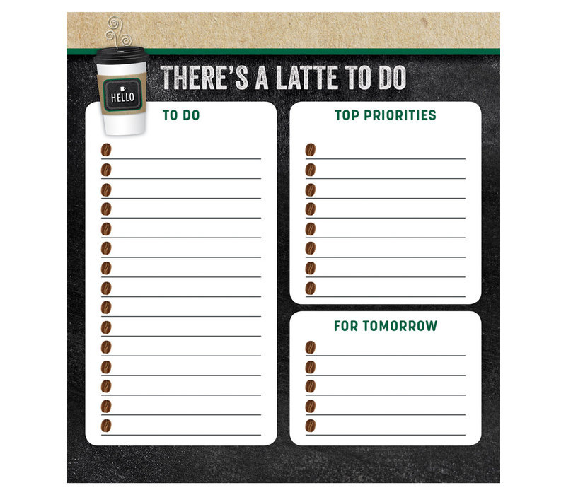 There's a Latte to Do Notepad *