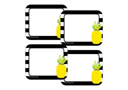 Carson Dellosa Pineapple Stripe Name Tags