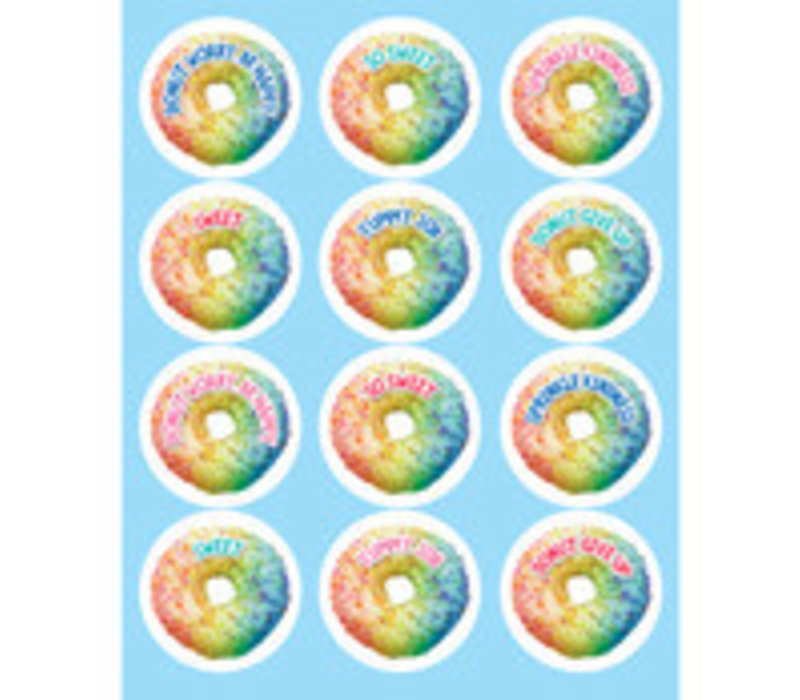 Rainbow Donut Shape Stickers *