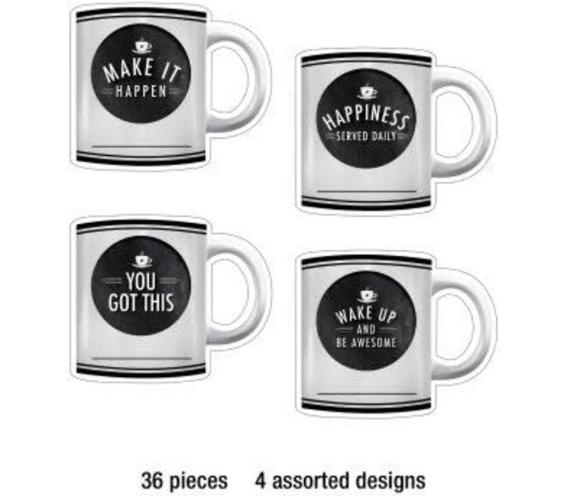 Motivational Coffee Mugs Cut-Outs *