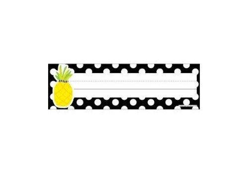 Carson Dellosa Pineapple Polka Dot Nameplates *