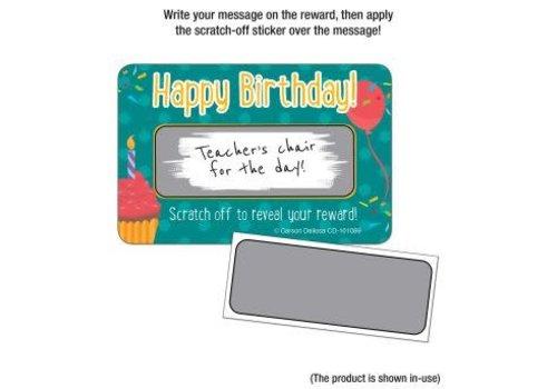 Carson Dellosa Happy Birthday! Scratch Off Awards & Certificates *