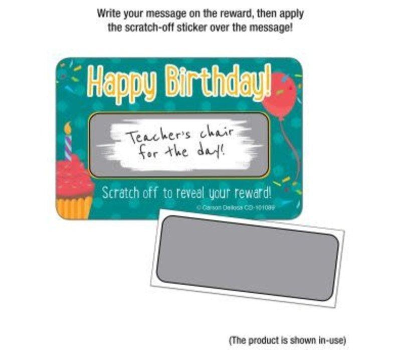 Happy Birthday! Scratch Off Awards & Certificates *