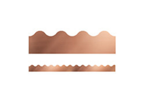 Carson Dellosa Rose Gold Foil Scalloped Borders *
