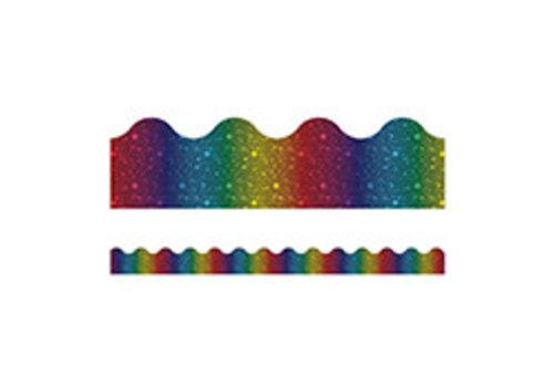 Carson Dellosa Rainbow Foil Scalloped Borders*
