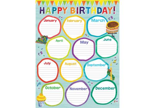Carson Dellosa World of Eric Carle™ Birthday Chart *