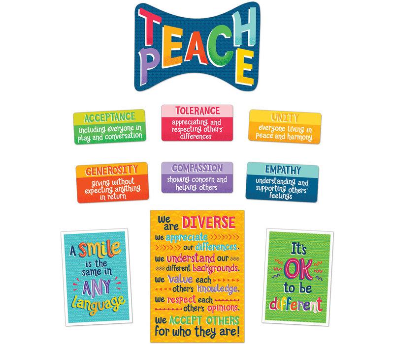 Teach Peace Bulletin Board Set