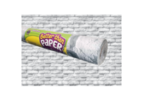 Teacher Created Resources Better than Paper - White Brick  Bulletin Board Roll *