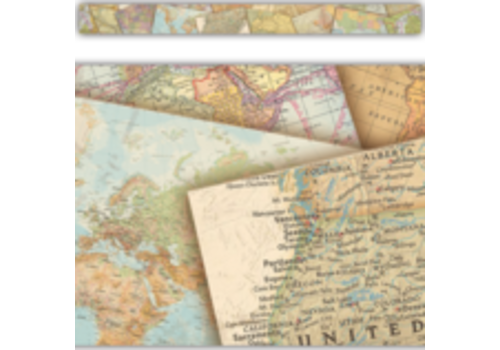 Teacher Created Resources Travel the Map Straight Border Trim