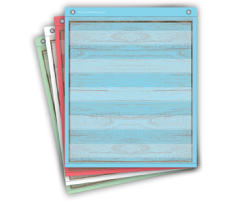 Painted Wood Magnetic Pocket Charts