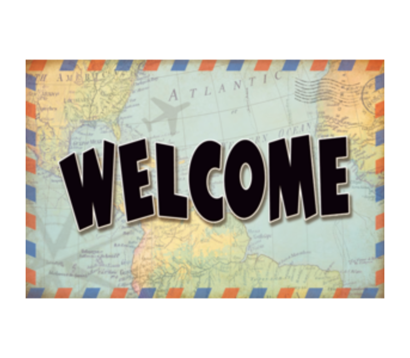 Travel the Map - Welcome Postcards