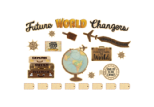 Teacher Created Resources Travel the World Future World Changers Bulletin Board Set