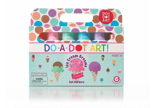 Do a Dot Do-A-Dot Ice Cream Dreams Scented Dot Markers 6-pack *