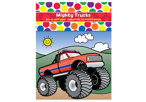 Do a Dot Do-A-Dot Play & Learn Mighty Trucks Activity Book