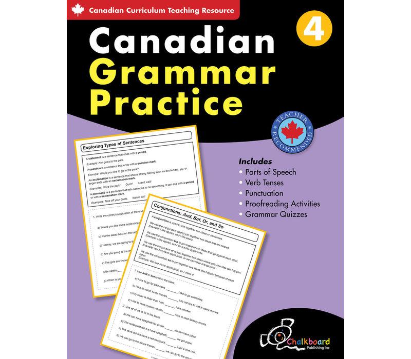 Canadian Grammar Practice Grade 4 *