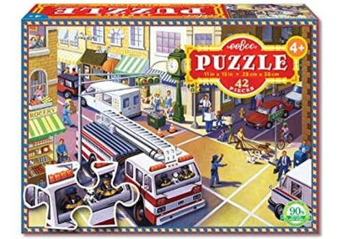 Fire Truck in the City Puzzle, 64 pc