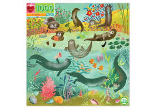 Eeboo Otters At Play 1000 Piece Puzzle