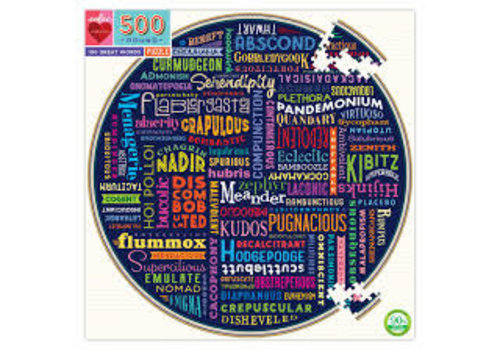 Eeboo 100 Great Words 500 Piece Puzzle
