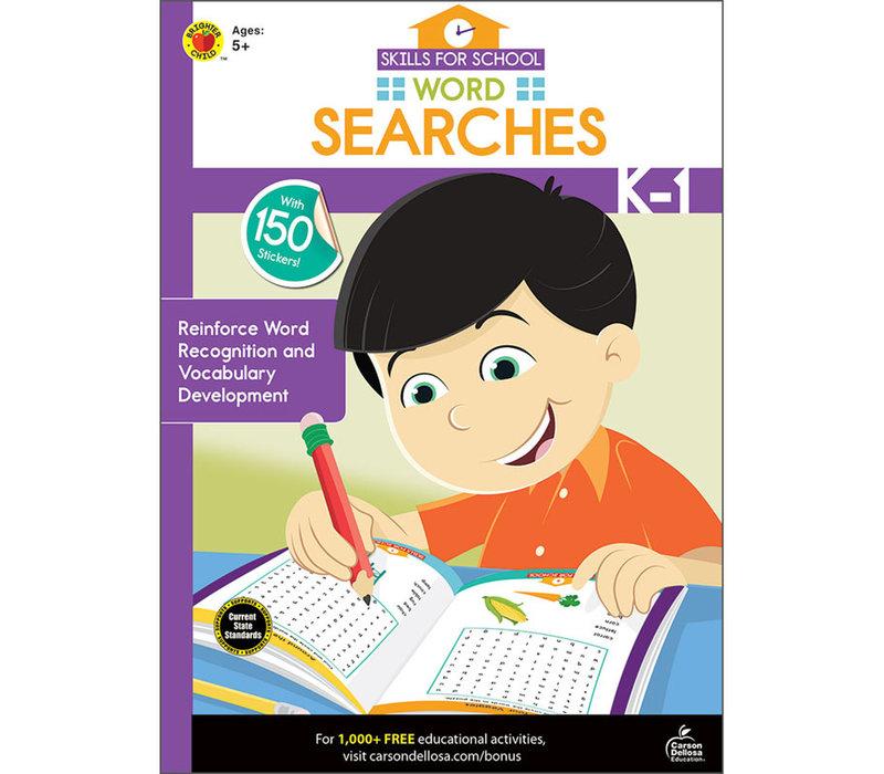 SKILLS FOR SCHOOL WORD SEARCH GR K-1