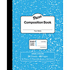 PACON MARBLE COMPOSITION BOOK GR 3, BLUE 3/4 IN RULED