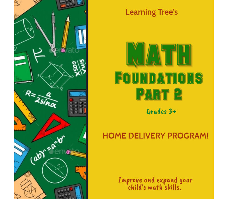 Math Foundations Part 2 Spring  HOME DELIVERY *