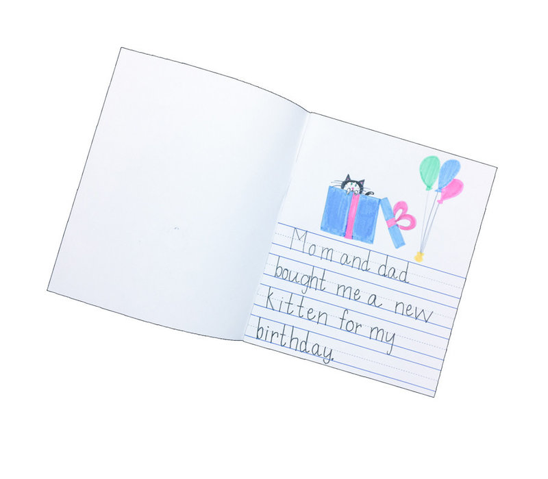 Soft Cover Primary Journal, Half Lined