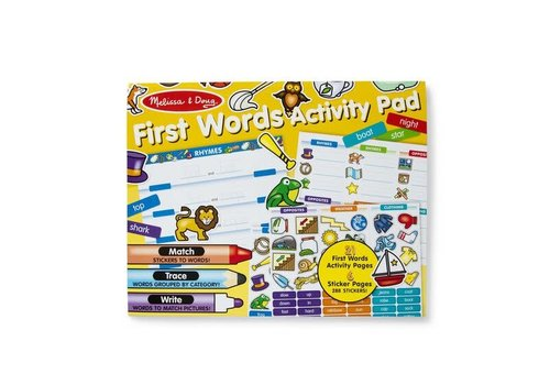 Melissa & Doug First Words Jumbo Sticker and Activity Pad