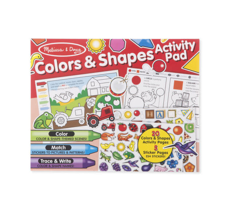 Colors & Shapes  Jumbo Sticker and Activity Pad