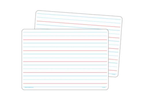 """Teacher Created Resources Double-Sided Dry Erase Board 8.5"""" x 11"""" Ruled Storyboard/Blank, Set of 10 *"""