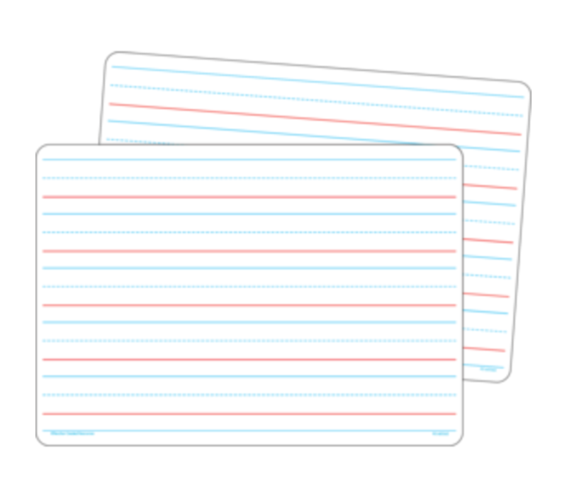 """Double-Sided Dry Erase Board 8.5"""" x 11"""" Ruled Storyboard/Blank, Set of 10 *"""
