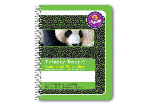 "PACON Primary Journal, Half Rule 5/8"" GREEN, coil bound"