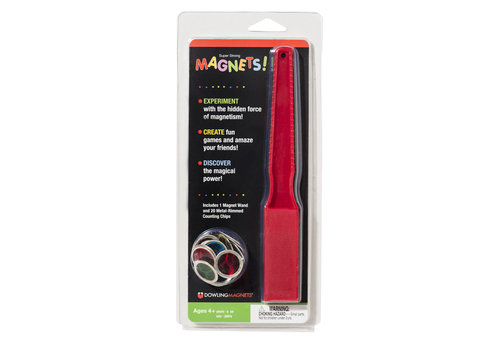 dowling magnets Magnet Wand & 20 Metal-Rimmed Counting Chips *