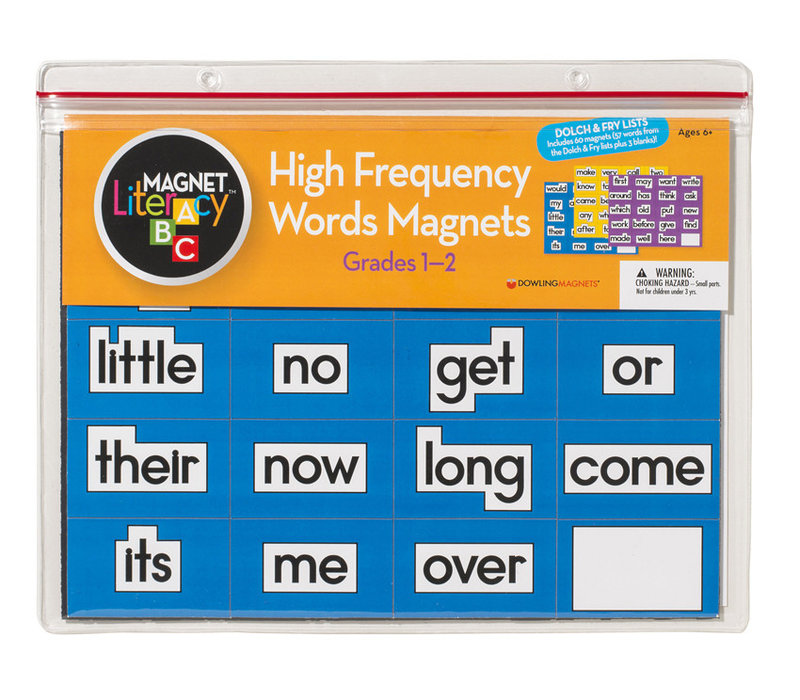 High-Frequency Words Magnets (Grades 1-2), Set of 60