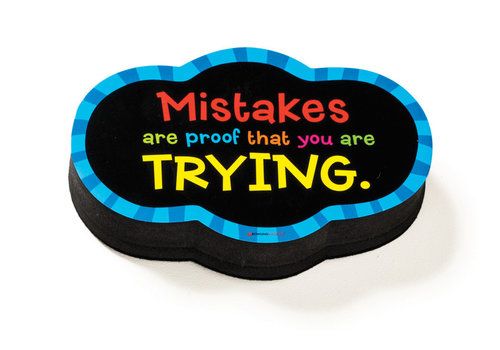 dowling magnets Magnetic Whiteboard Eraser: Mistakes Quote